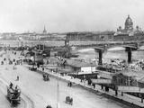 Nikolai-Bridge in Saint Petersburg  1916