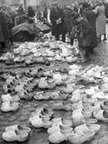 Timber Shoe Market in Memel  1939
