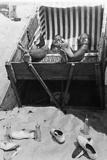 Sunbathing in a Beach Chair  1933
