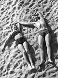 Young Couple Sunbathing  1939