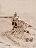 Family Vacation at the Beach on the Baltic Sea  1930