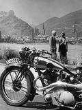 A Motorcycle Trip Alongside the Rhein River  1936