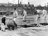 Oxford Rowing Crew Practicing for the University Boat Race  1937