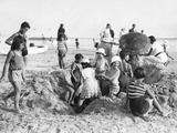 Children at the Beach of La Baule in France  1932