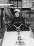 Female Student Pilot in a Training Aircraft Near Chalons  1910