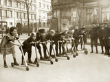 Children at a Scooter Race  1922