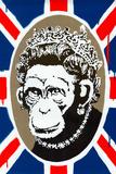 Monkey Queen Union Jack Graffiti Reproduction d'art
