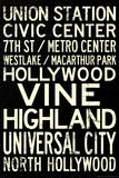 Los Angeles Metro Rail Stations Vintage Subway Retro Metro Travel