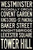 London Underground Vintage Stations Travel