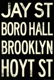New York City Brooklyn Jay St Vintage Subway RetroMetro