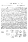 Declaration of Independence Authentic Reproduction White Art Poster Print
