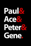 Paul Ace Peter and Gene Music Poster