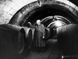 Wine Taster in Saumur in France  1937
