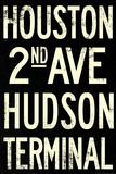 New York City Houston Hudson Vintage Subway RetroMetro