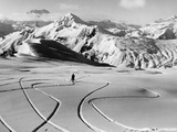 Skier in the South Tyrolean Dolomiten Near Cortina  1930's