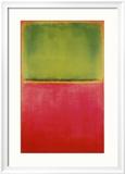 Vert, rouge sur fond orange Reproduction encadrée par Mark Rothko