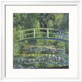 Water Lily Pond, 1899 (blue) Reproduction encadrée par Claude Monet