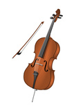 Cello and Bow  Stringed Instrument  Musical Instrument