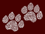 Dog Paw Prints - Woof