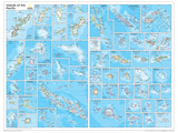 2014 Islands of the Pacific - National Geographic Atlas of the World, 10th Edition Reproduction d'art
