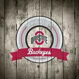 Ohio State Buckeyes Logo on Wood
