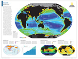 2014 Oceans - National Geographic Atlas of the World, 10th Edition Reproduction d'art