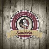 Florida State Seminoles Logo on Wood