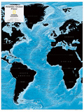 2014 Atlantic Ocean Floor - National Geographic Atlas of the World, 10th Edition Reproduction d'art