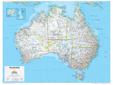 2014 Australia Political - National Geographic Atlas of the World, 10th Edition Reproduction d'art