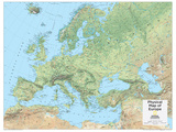 2014 Europe Physical - National Geographic Atlas of the World  10th Edition