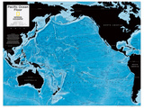 2014 Pacific Ocean Floor - National Geographic Atlas of the World, 10th Edition Reproduction d'art