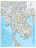 2014 Indochina - National Geographic Atlas of the World, 10th Edition Reproduction d'art