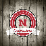 Nebraska Cornhuskers Logo on Wood
