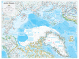 2014 Arctic Political - National Geographic Atlas of the World, 10th Edition Reproduction d'art