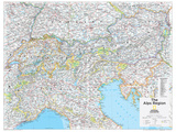 2014 The Alps Region - National Geographic Atlas of the World  10th Edition