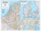 2014 The Low Countries - National Geographic Atlas of the World  10th Edition