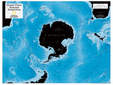 2014 Ocean Floor Antarctica - National Geographic Atlas of the World, 10th Edition Reproduction d'art