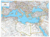 2014 Mediterranean Region - National Geographic Atlas of the World  10th Edition