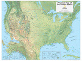 2014 United States Physical - National Geographic Atlas of the World  10th Edition