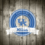 Kentucky Wildcats Logo on Wood