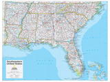 2014 Southeastern US - National Geographic Atlas of the World  10th Edition