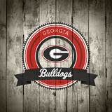 Georgia Bulldogs Logo on Wood