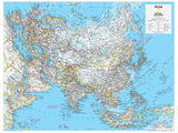 2014 Asia Political - National Geographic Atlas of the World, 10th Edition Reproduction d'art