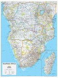 2014 Southern Africa - National Geographic Atlas of the World, 10th Edition Reproduction d'art