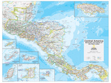 2014 Central America - National Geographic Atlas of the World, 10th Edition Reproduction d'art
