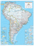 2014 South America Political - National Geographic Atlas of the World  10th Edition