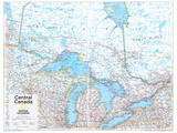 2014 Central Canada - National Geographic Atlas of the World  10th Edition