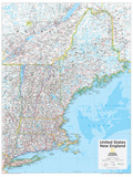 2014 New England US - National Geographic Atlas of the World  10th Edition
