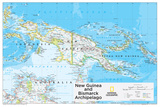 2014 New Guinea - National Geographic Atlas of the World, 10th Edition Reproduction d'art par National Geographic Maps