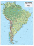 2014 South America Physical - National Geographic Atlas of the World, 10th Edition Reproduction d'art